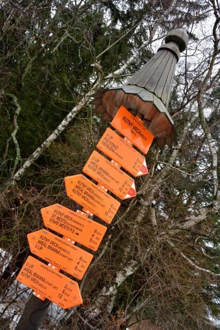 Lyžařské běžecké trasy Branná