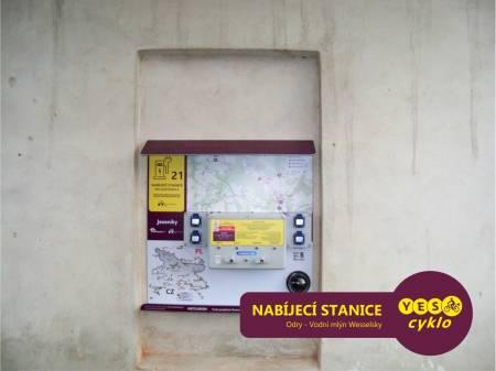 Nabíjecí stanice pro elektrokola - Vodní mlýn Wesselsky