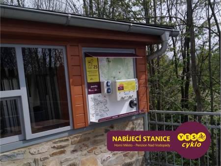 Nabíjecí stanice pro elektrokola - Penzion nad Vodopády