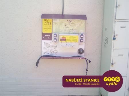 Nabíjecí stanice pro elektrokola - Městské koupaliště Bruntál