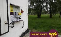 Nabíjecí stanice pro elektrokola - Papírna Velké Losiny